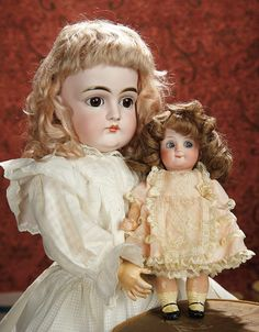 The Memory of All That - Marquis Antique Doll Auction: 248 Very Pretty German Bisque Child, 128, by Kestner with Closed Mouth
