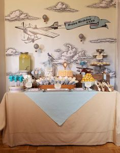 Vintage Transportation planes trains automobiles birthday party via Kara's Party Ideas