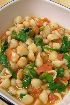 Tuscan White Bean & Spinach Soup Recipe