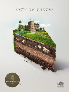 I aim for one of my advertisements to incorporate the use of how different layers are made to seem like a cake in this picture.
