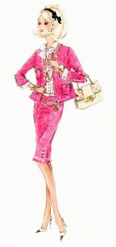 Robert Best Silkstone Barbie sketch Preferably Pink 2008 BFMC