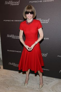 Anna Wintour attends The Hollywood Reporter 35 Most Powerful People In Media Celebration at The Four Seasons Restaurant
