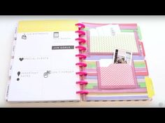 Making your own planner accessories is as easy as Learn how to make your own file folder pockets with the We R Memory Keepers Punch Board now! Find great deals on your favorite We R Memory Keepers Arc Planner, How To Make Planner, Planner Dividers, Planner Ideas, Planner Diy, Planer Organisation, Organization, Discbound Planner, Filofax