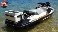 Sea Doo Fish Pro 2020 An industry first, the FISH PRO is a combination of excitement, versatility, passion all in one complete package. Jet Ski Fishing, Kayak Fishing, Fishing Boats, Cool Boats, Small Boats, Pedal Kayak, Cooler Designs, Fish Finder, Water Crafts