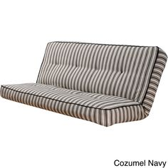 Somette Stripe Full Size Futon Cover Navy Couch Blue Couches