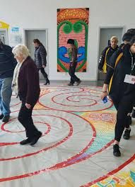 Flaxmere community labyrinth, created using tape and paint, as part of artist residency for the Hawkes Bay Arts festival, NZ. Tape Art, Art Festival, Street Art, Community, Artist, Painting, Artists, Painting Art, Paintings
