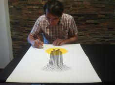 "Ivan Solbes signing ""Oro puro a tus pies"" www.guntergallery... #artprint #silkscreen #arthunter #serigrafia #instaart #art #graphicart #serigraphy #printing #streetart #guntergallery #illustration #screenprint #ilustracion #cosasbonitas #gift #artgift #unique #picoftheday #artshop #dyingart #artlovers #illustrator #decoracion #decoration #artejoven #artcollection"