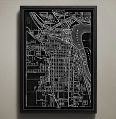 This map of Kansas City details the stockyards and history of 1889; these stockyards are no more than a memory after being carried away in the cascading waves of the Great Flood of 1951. Now you can t