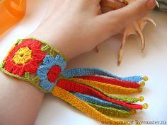 Floral hippie bracelet - Fair Masters - handmade, handmade