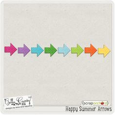 Quality DigiScrap Freebies: Happy Summer Arrows freebie from Bella Gypsy Designs