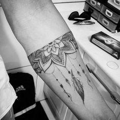 Mandala Bracelet Tattoo by Rick