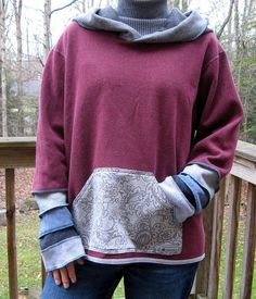 Great idea for collaging sweatshirts parts