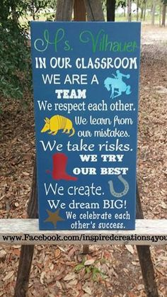 Western themed In this classroom sign Teacher by InsCre4You, $35.00
