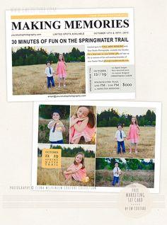 Newspaper Note - a free 5x7 marketingtemplate - News & Musings - Photographer Photoshop Templates and Marketing Materials