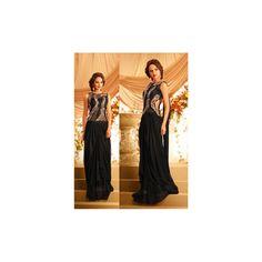 Viva N Diva Black Color Net + Georgette Gown http://goo.gl/xItMvZ