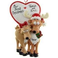 Our First Christmas Ornament Be My Dear | Ornaments and More