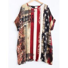 SHARE & Get it FREE | Flag Pattern Dolman Sleeves Chiffon DressFor Fashion Lovers only:80,000+ Items·FREE SHIPPING Join Dresslily: Get YOUR $50 NOW!