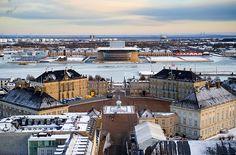 Amalienborg - The Royal Palace - Copenhagen - Denmark in winter
