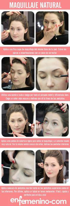 El maquillaje natural es perfecto para toda ocasión.