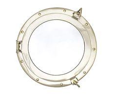 Espejo de latón Ojo de buey - Ø40 cm