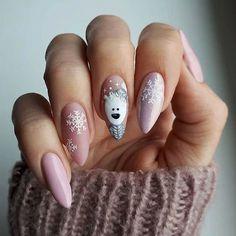 Stylish Gel Nail Art Designs That Are So Perfect for Summer 2019 - Xmas Nails - Chistmas Nails, Cute Christmas Nails, Xmas Nails, Holiday Nails, Xmas Nail Art, Christmas Manicure, White Christmas, Gel Nail Art Designs, Winter Nail Designs