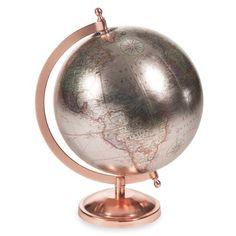 Copper Glace - Globe terrestre H 29 cm