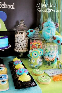 Monster's University Back To School Party via Kara's Party Ideas | Kara'sPartyIdeas.com #Monster'sInc. #Disney #Partyideas #Supplies (16)