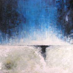 Bvd blue, 36x36pc, acrylique sur panneau de bois, 2017 - abstraction Haguier Abstract Landscape, Les Oeuvres, Painting, Landscape Planner, How To Paint, Contemporary, Projects, Paint, Painting Art