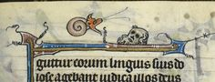 Knight vs snail: A detail from a fragmentary Book of Hours, France (St Omer), c. Medieval Manuscript, Illuminated Manuscript, Snail Art, Old Best Friends, Book Of Hours, British Library, Middle Ages, Miniatures, Snails