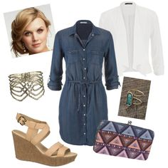 #maurices #chambraydress 3 by melissabrunner on Polyvore featuring polyvore fashion style maurices