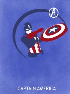 Captain America - Assemble with THE AVENGERS Poster Series by MatthewSaxon…