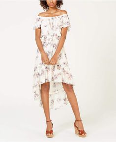 b7223a991 American Rag Juniors  Off-The-Shoulder High-Low Dress