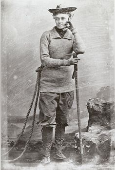 Annie Smith Peck (1850–1935) scaled all the major mountains of Europe, then went to South America, where in 1908 she was the first person to scale Peru's highest peak, Mt Huscaran, gaining international acclaim. She was also an influential scholar, writing books and lecturing around the world. She kept climbing until the age of 82.  Oh, and she didn't wear the long skirts expected of women at the time.