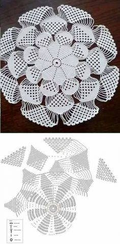 Home Decor Crochet Patterns Part 150 - Beautiful Crochet Patterns and Knitting Patterns Crochet Dollies, Crochet Doily Patterns, Crochet Mandala, Crochet Diagram, Crochet Chart, Thread Crochet, Crochet Motif, Crochet Designs, Crochet Flowers