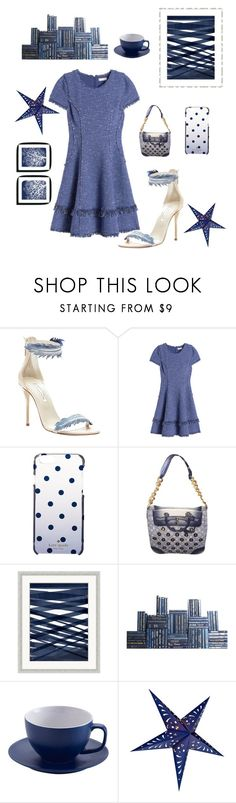 """Denim"" by kotnourka ❤ liked on Polyvore featuring Oscar de la Renta, Rebecca Taylor, Kate Spade, Louis Vuitton, Wendover Art Group, Price & Kensington and Cultural Intrigue"