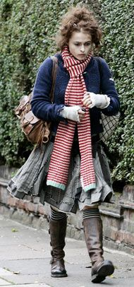 Love her and her style and her husband and his work. They all make me happy. Helena Bonham Carter