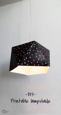 DIY printable lampsh