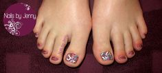 Glitter Toes with Swirls and Dots