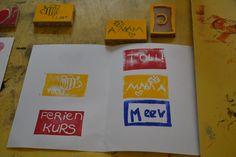 Sommerferienworkshop im Museum für Druckkunst /// Foto: Museum für Druckkunst Leipzig