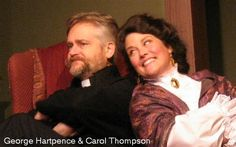 George Hartpence and Carol Thompson in Candida at ActorsNET