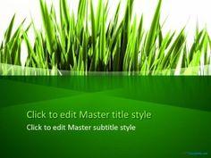 Free Green Grass PPT Template