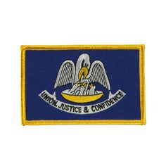 Middle State Embroidered Patches - Louisiana