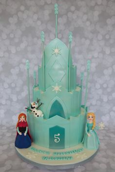 disney frozen castle cake | this splendid disney frozen 5th birthday cake was made by cake central ...