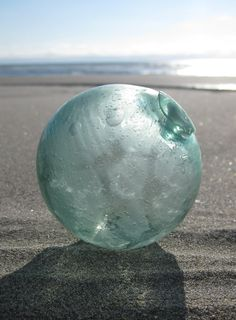 To find a Japanese glass fishing float on the beach. A BIG one. What treasure.