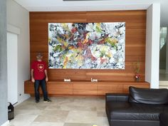 Interior Design Abstract Art Installation 300cm x 180cm Abstract Art Lesson Technique #abstract #artwork created by #artist #Glenn #Farquhar owner of #ArtFusion #studio #Gallery www.artfusionprod... #Learn-how-to-Paint #artlessons buy #Interior-Design-Artworks