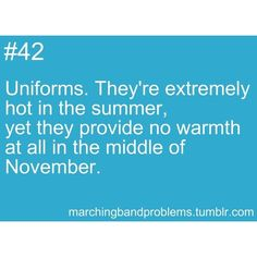Marching Band Problems. ❤ liked on Polyvore featuring quotes