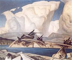 """Alfred Joseph Casson - Canadian / Group of Seven (1898 - 1992) """"Thunderheads"""""""