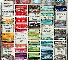 What's REALLY in your fabric stash? LOL. Loving this funny image we found via @FaveQuilts! Do you think your fabric stash is slightly organized like this?