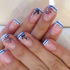 Картинки по запросу дизайн ногтей в морском стиле