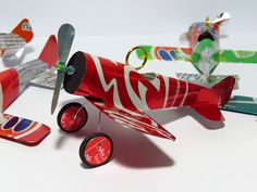 Soda can airplane. mini mobile.